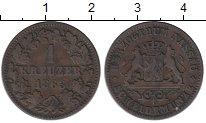 Изображение Монеты Нассау 1 крейцер 1863 Медь XF-