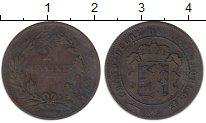 Изображение Монеты Люксембург 2 1/2 сантима 1874 Бронза VF