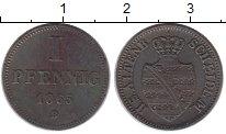 Изображение Монеты Германия Саксе-Альтенбург 1 пфенниг 1865 Медь XF