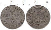 Изображение Монеты Германия Саксония 1/24 талера 1798 Серебро XF-