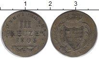 Изображение Монеты Германия Саксе-Кобург-Саалфельд 3 крейцера 1805 Серебро XF-