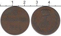 Изображение Монеты Германия Шварцбург-Рудольфштадт 3 пфеннига 1825 Медь XF-