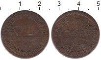 Изображение Монеты Германия Падерборн 6 пфеннигов 1748 Медь XF-
