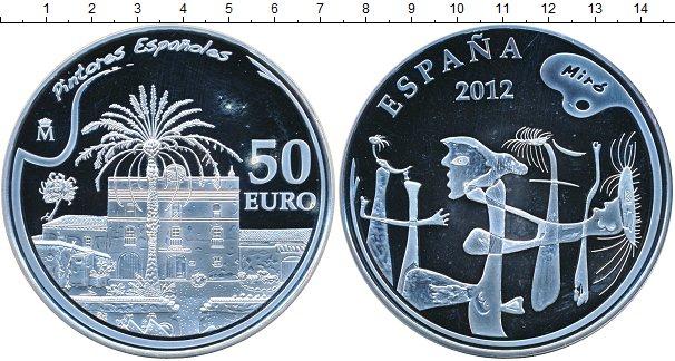 Картинка Монеты Испания 50 евро Серебро 2012