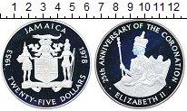 Изображение Монеты Ямайка 25 долларов 1978 Серебро Proof