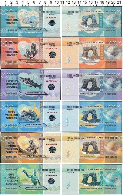Изображение Банкноты Эквадор Галапагосские острова Набор из 6 бон 2015  UNC