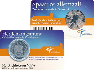 Изображение Монеты Нидерланды 5 евро 2008 Посеребрение