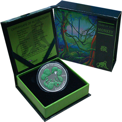 Изображение Подарочные монеты Конго 1000 франков 2016 Серебро Proof