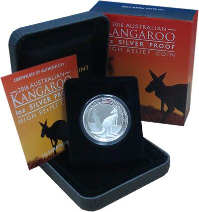 Изображение Подарочные монеты Австралия 1 доллар 2016 Серебро Proof Австралийский кенгур