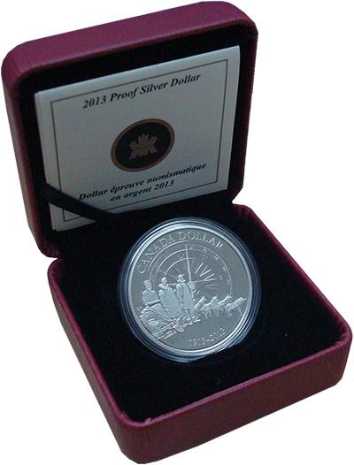 Изображение Подарочные монеты Канада 1 доллар 2013 Серебро Proof