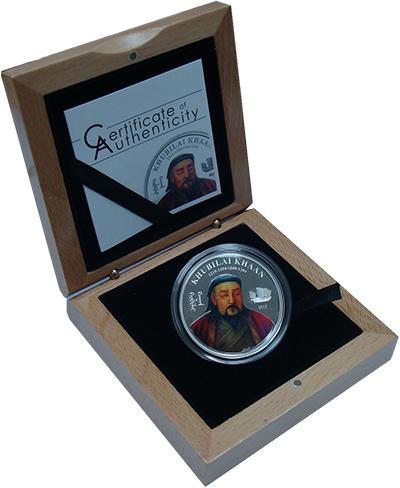 Изображение Подарочные монеты Монголия 10000 тугриков 2015 Серебро Proof