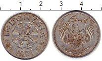 Изображение Монеты Индонезия 10 сен 1951 Алюминий XF