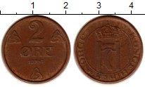 Изображение Монеты Норвегия 2 эре 1947 Бронза XF Хокон VII