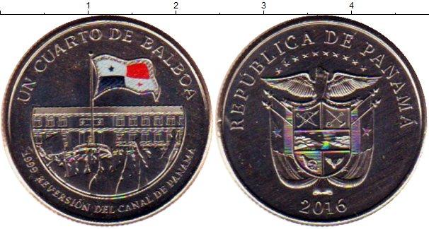 Картинка Мелочь Панама 1/4 бальбоа Медно-никель 2016