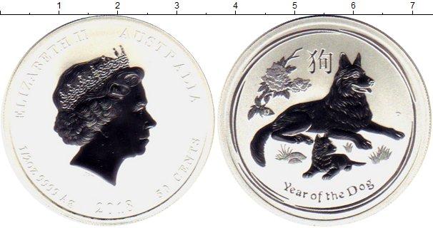 Картинка Мелочь Австралия 50 центов Серебро 2018