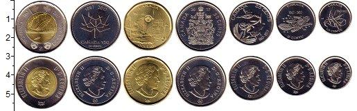 Изображение Наборы монет Канада 150 лет Канаде 2017  UNC В наборе 7 монет ном