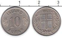 Изображение Монеты Исландия 10 аурар 1963 Медно-никель XF
