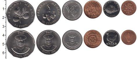 Изображение Наборы монет Тонга Тонга 2005-2011 0  UNC-