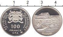 Изображение Монеты Дагомея 100 франков 1971 Серебро Proof- Годовщина независимо