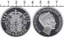 Изображение Монеты Дания 500 крон 2010 Серебро Proof