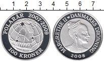 Изображение Монеты Дания 100 крон 2008 Серебро Proof