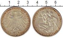 Изображение Монеты ФРГ 10 марок 1972 Серебро UNC- D. Олимпиада Мюнхен
