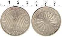 Изображение Монеты ФРГ 10 марок 1972 Серебро UNC- F. Олимпиада Мюнхен