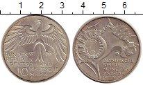 Изображение Монеты ФРГ 10 марок 1972 Серебро UNC- J. Олимпиада Мюнхен