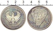 Изображение Монеты ФРГ 10 марок 1988 Серебро UNC- D. 200 лет со дня ро