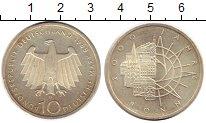 Изображение Монеты ФРГ 10 марок 1989 Серебро UNC- D. 2000 лет Бонну