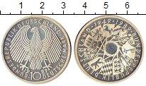 Изображение Монеты ФРГ 10 марок 1989 Серебро UNC- 40 лет образования Ф