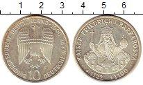 Изображение Монеты ФРГ 10 марок 1990 Серебро UNC- F. Кайзер Фридрих Ба