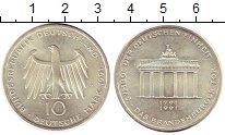 Изображение Монеты ФРГ 10 марок 1991 Серебро UNC- А. Бранденбургские в