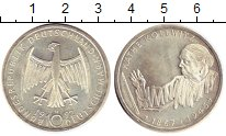 Изображение Монеты ФРГ 10 марок 1992 Серебро UNC- G. Кате Коллвитц