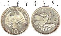 Изображение Монеты ФРГ 10 марок 1998 Серебро UNC- J   350 - летие  сво