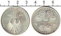 Изображение Монеты ФРГ 10 марок 1998 Серебро UNC- F. 50 лет обращения