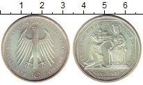 Изображение Монеты ФРГ 10 марок 2000 Серебро UNC- G   1200  лет  Собор