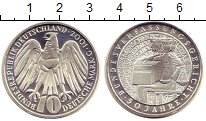 Изображение Монеты ФРГ 10 марок 2001 Серебро Proof- C   50 - летие  Феде
