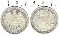 Изображение Монеты ФРГ 10 марок 2001 Серебро Proof- А   50 - летие  Феде