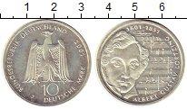 Изображение Монеты ФРГ 10 марок 2001 Серебро UNC- J   200 - летие  Аль