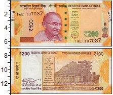 Изображение Банкноты Индия 200 рупий 2017  UNC Махатма Ганди