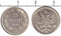 Изображение Монеты 1881 – 1894 Александр III 25 пенни 1894 Серебро  L