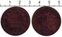 Изображение Монеты 1881 – 1894 Александр III 10 пенни 1891 Медь