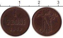 Изображение Монеты 1894 – 1917 Николай II 1 пенни 1900 Медь