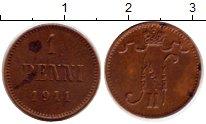 Изображение Монеты 1894 – 1917 Николай II 1 пенни 1911 Медь