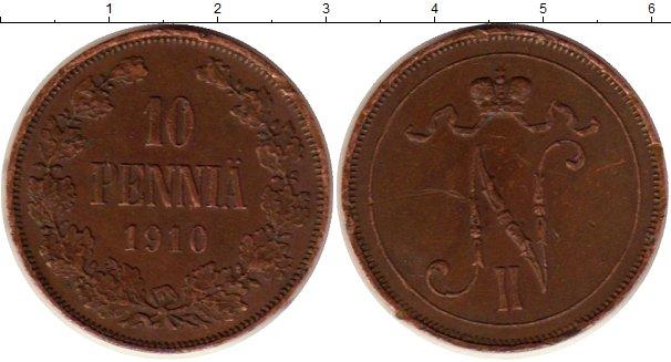 Картинка Монеты 1894 – 1917 Николай II 10 пенни Медь 1910