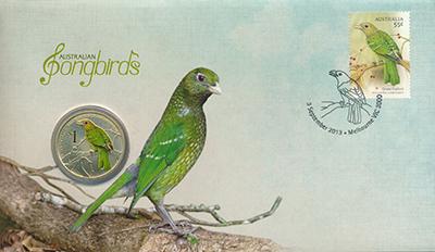 Изображение Монеты Тувалу 1 доллар 2013  UNC Серия: Птицы Австрал