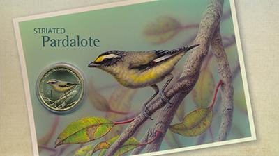 Изображение Подарочные монеты Тувалу 1 доллар 2013  UNC Серия: Птицы Австрал