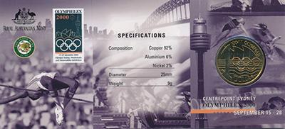 Изображение Подарочные монеты Австралия 1 доллар 2000  UNC-