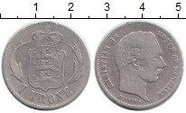 Изображение Монеты Дания 1 крона 1875 Серебро